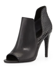 Mance Cutout Snake-Embossed Bootie