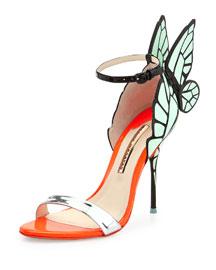 Chiara Butterfly Wing Ankle-Wrap Sandal