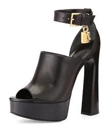 Padlock Chunky Platform Sandal