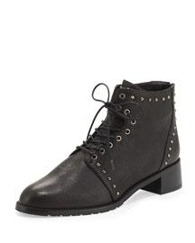 Lashease Studded Combat Boot, Black