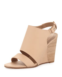 Karen Leather Wedge Sandal