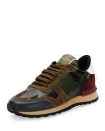 Camupeace Camo-Print Leather Sneaker