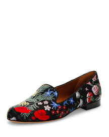 Camu Garden Brocade Smoking Slipper