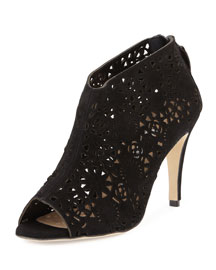 Maufami Laser-Cut Suede Ankle Boot