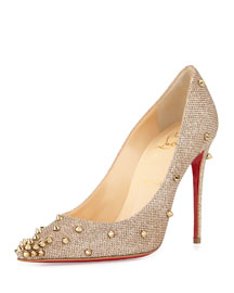 Degraspike Studded Glitter Red Sole Pump