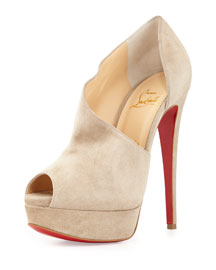 Verita Suede d'Orsay Red Sole Bootie