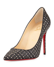 Decolette Optic Mosaic Red Sole Pump