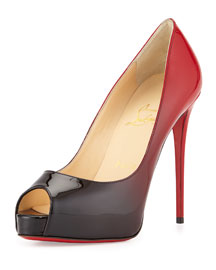 New Very Prive Ombre Peep-Toe Red Sole Pump