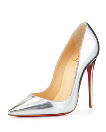 So Kate Metallic Red Sole Pump, Silver