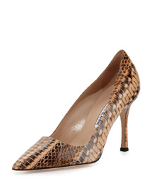 BB Snakeskin 90mm Point-Toe Pump