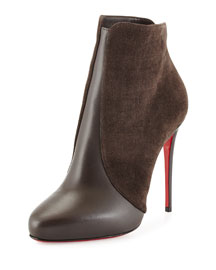 Gaetanina Split Suede & Leather Red Sole Bootie