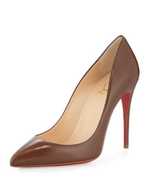 Pigalle Follies Low-Cut Point-Toe Red Sole Pump, Blush #5