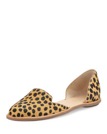 Prue Spotted Calf Hair d'Orsay Flat