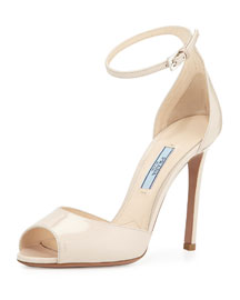 Patent Simple Naked Sandal