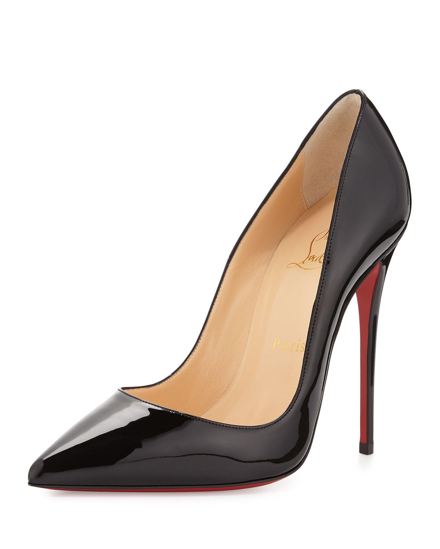Christian Louboutin So Kate Patent Red Sole Pump, Black, Women's, Size: 36.0B/6.0B