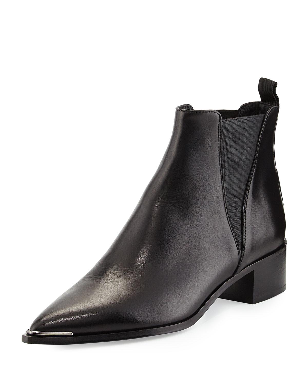 Acne Jensen Pointy-Toe Ankle Boot, Black, Women's, Size: 37.0B/7.0B
