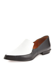 Agatha Contrast Leather & Canvas Loafer