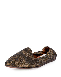 Brocade Smoking Slipper, Gunmetal