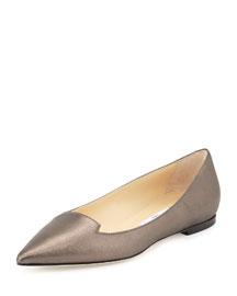 Attila Shimmer Suede Loafer Flat, Gray