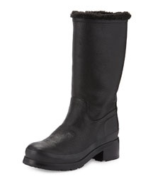 Original Shearling-Lined Leather Mid-Calf Boot