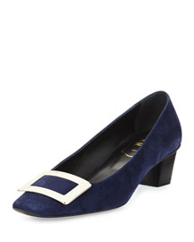 Decollette Belle Vivier Pump, Navy