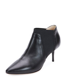 Declan Gored Leather Bootie, Black