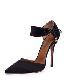 Candela High-Heel Suede d'Orsay Sandal, Black