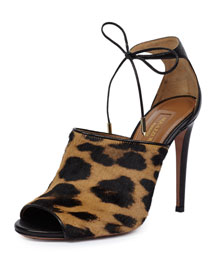 Estelle Calf Hair Sandal, Leopard