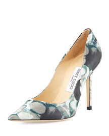Abel Floral-Print Point-Toe Pump
