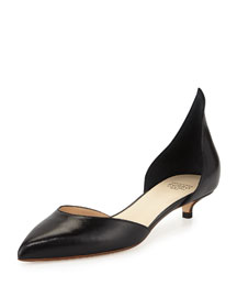 Calf Leather d'Orsay Pump, Black