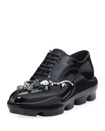 Crystal-Embellished Sneaker-Style Oxford