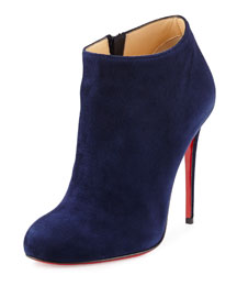Bellissima Suede Red Sole Bootie, Nuit