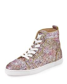 Bip Bip Glitter Aquarium High-Top Sneaker, Rosette