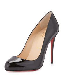 Dorissima Patent Red Sole Pump, Black