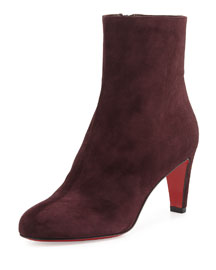 Top 70 Suede Red Sole Ankle Boot, Cramoisi