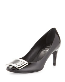 Belle de Nuit Patent Buckle Pump