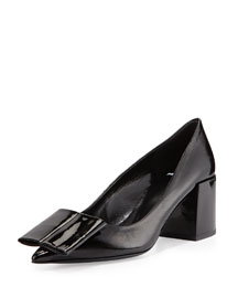 Obi Patent Bow Pump, Black