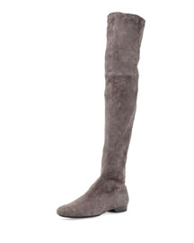 Fissaj Stretch Suede Over-The-Knee Boot