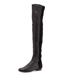 Fee Stretch Combo Leather Over-The-Knee Boot