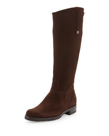 Waterproof Suede Riding Boot
