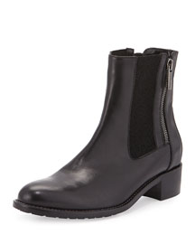 Odelia Polished Leather Ankle Boot
