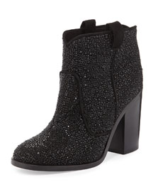 Pete Allover Crystal Bootie