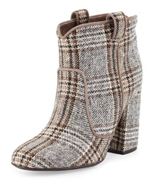 Pete Tartan Plaid Western Ankle Boot