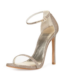 Nudist Metallic d'Orsay Sandal, Platinum