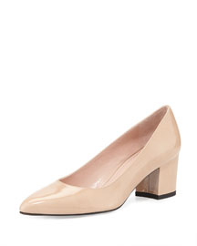 Firstclass Patent Leather Pump, Adobe