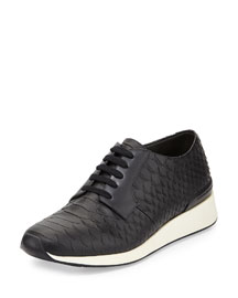 Rayner Python-Print Trainer Sneaker, Black