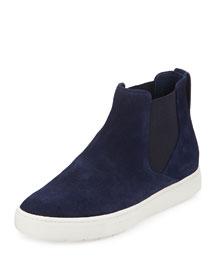 Newlyn Suede Sneaker Hybrid, Black