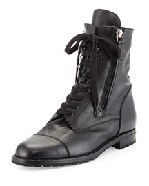 Campchalow Double-Zip Leather Lace-Up Boot