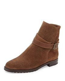 Sulgamba Suede Moto Boot, Medium Brown