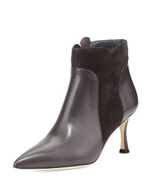 Somma Mixed-Leather Ankle Boot
